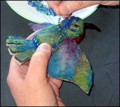 beading the bird